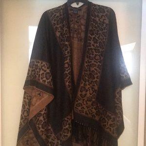 NWOT leopard print wrap